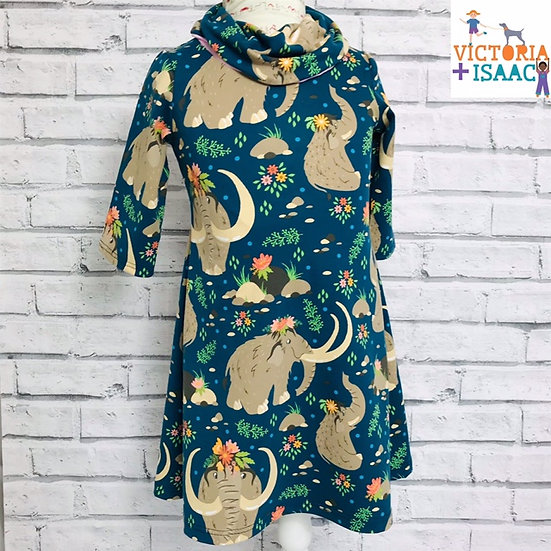 Mammoths Swing Dress with Cowl