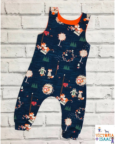 Woodland Foxes Dungarees
