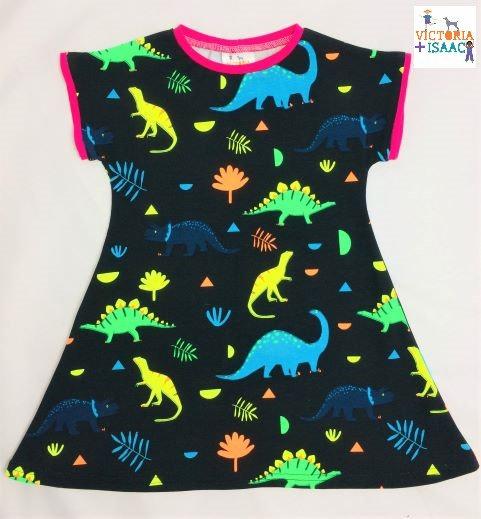 Neon Dinos T-shirt Dress