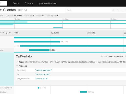 Configurado métricas do WSO2 Enterprise Integrator com Jaeger