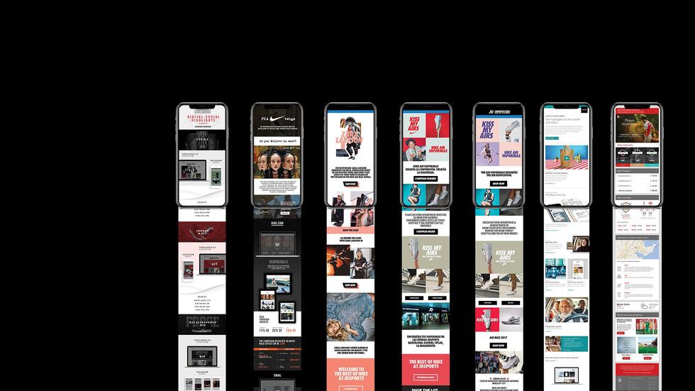 Nike Uber Footlocker JD HTML Newsletters