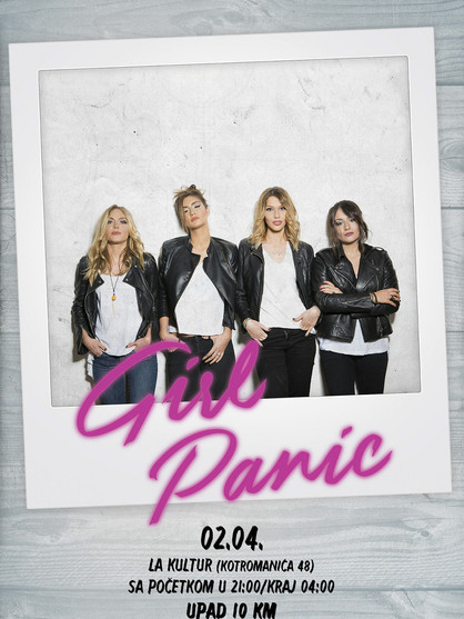 Girl Panic - Mucha Lucha Block Party Poster
