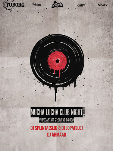 Mucha Lucha Block Party Poster