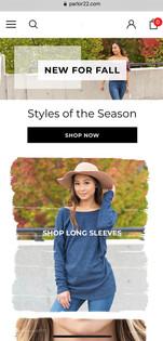 Parlor 22 Boutique Website