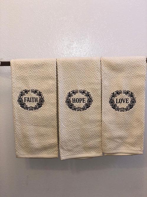 Faith,Hope,& Love Towels