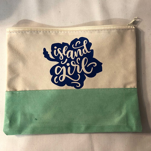 Island girl cosmetic bag