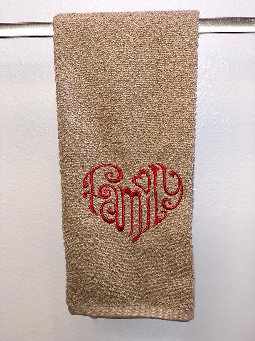 Family Heart Towel