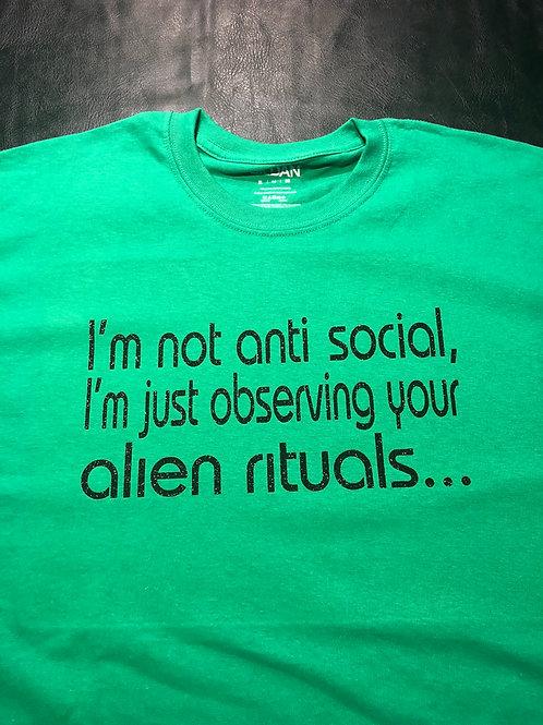Alien phrase shirt