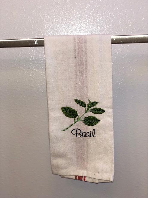 Basil Herb Towel