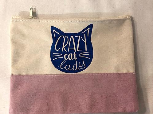Crazy cat lady makeup bag