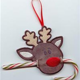 Rudolph Reindeer Candy Cane Holder