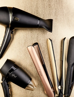GHD hairdryers hair straighteners tools.