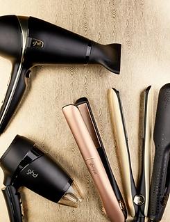 GHD hairdryers hair straighteners tools.