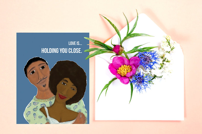 Love is...Holding You Close Greeting Card