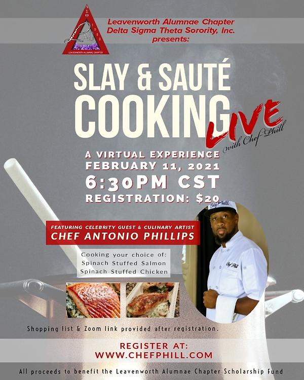 Feb 11 Chef Phill Slay and Saute event f