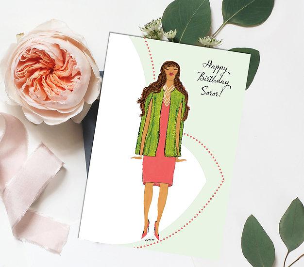 Happy Birthday Soror AKA Inspired Birthday Card