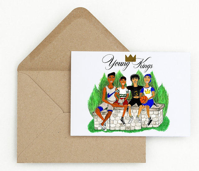 Young Kings Birthday Card