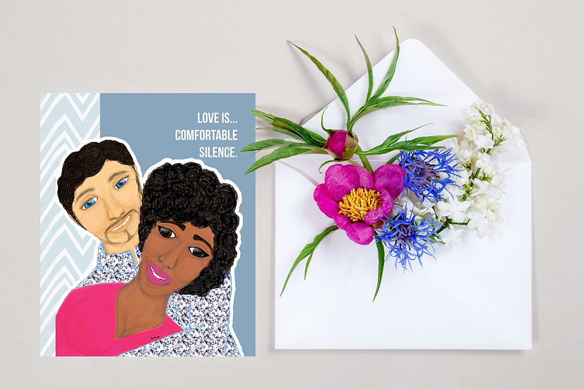 Love is...Comfortable Silence Greeting Card