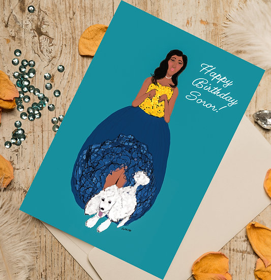 Happy Birthday Soror SGRho Inspired Birthday Card
