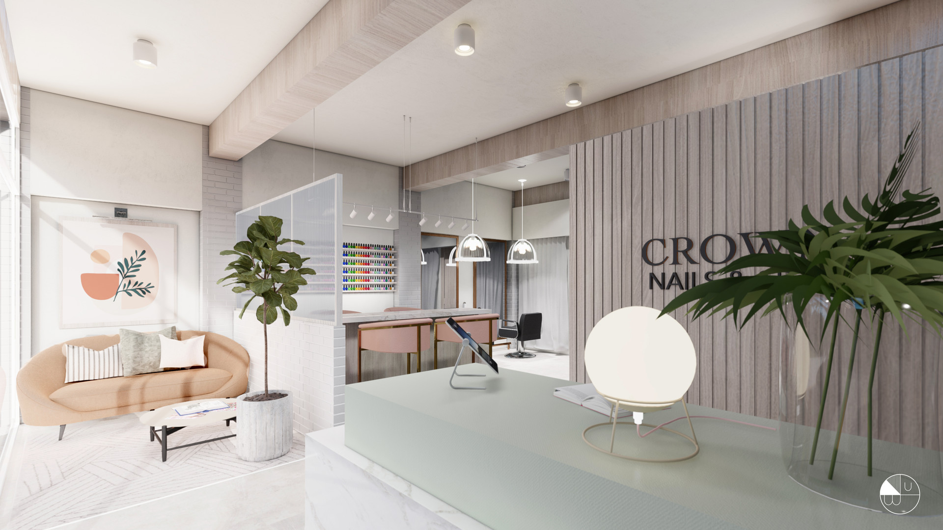 CROWN Nails & Spa - Villahermosa, México.