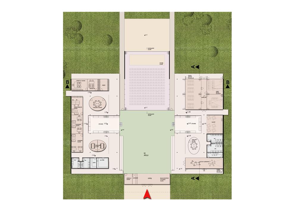 sdmim sosyal kültür evi mimari tasarım (12b)