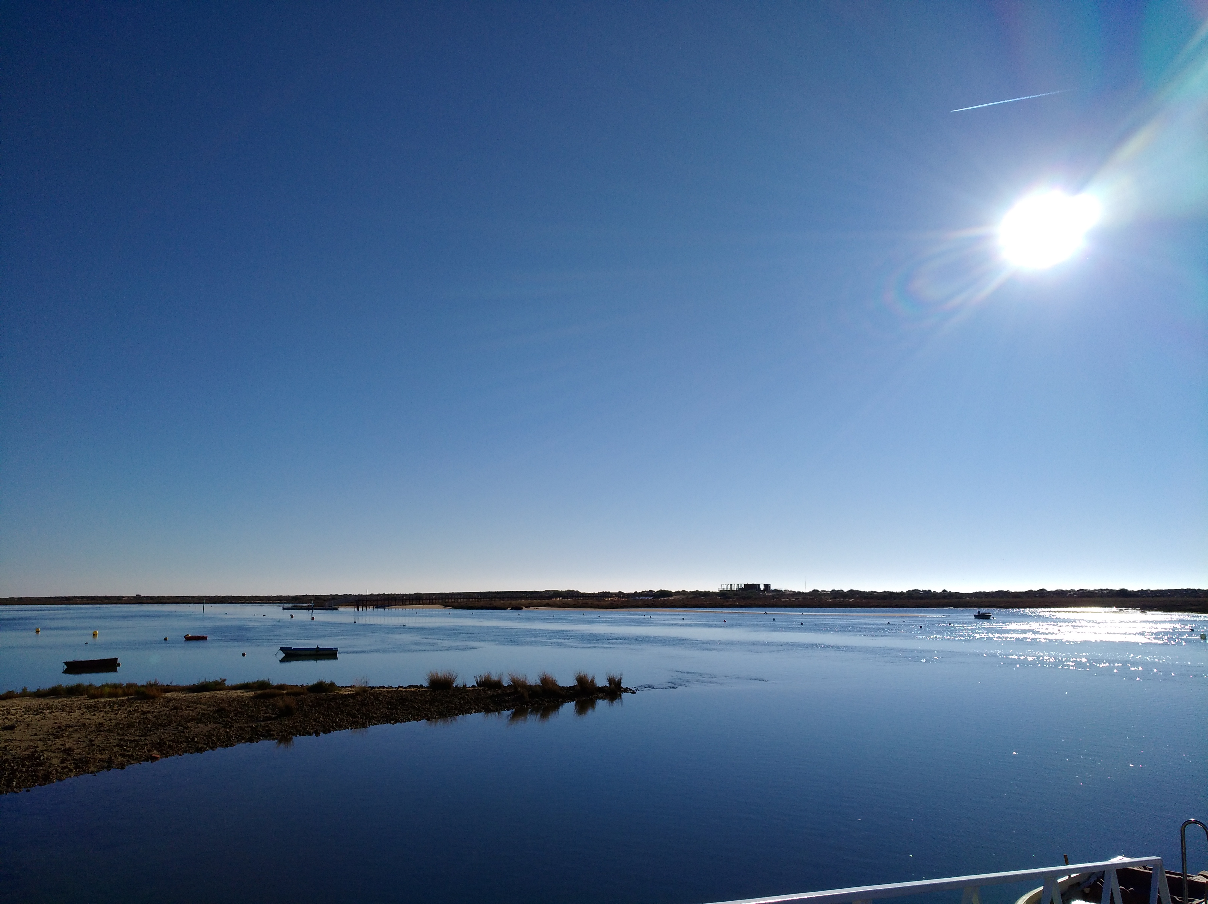 Ria Formosa - in front of the apart.