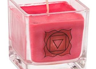 Bougie parfumée cire de colza écolo 1er chakra