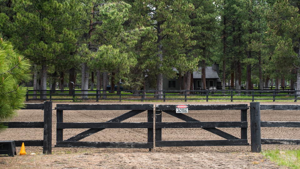 Entrance to west outdoor arena
