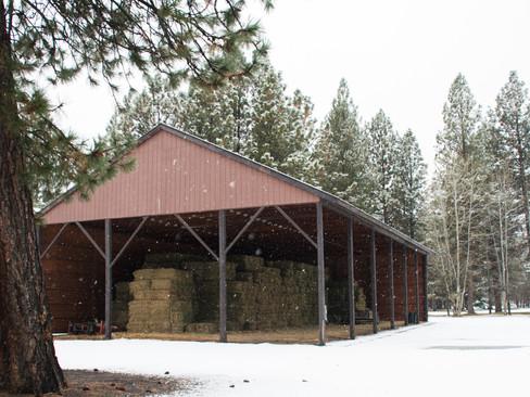 Hay barn in late Fall