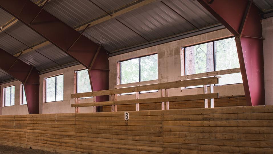 Indoor arena seating area