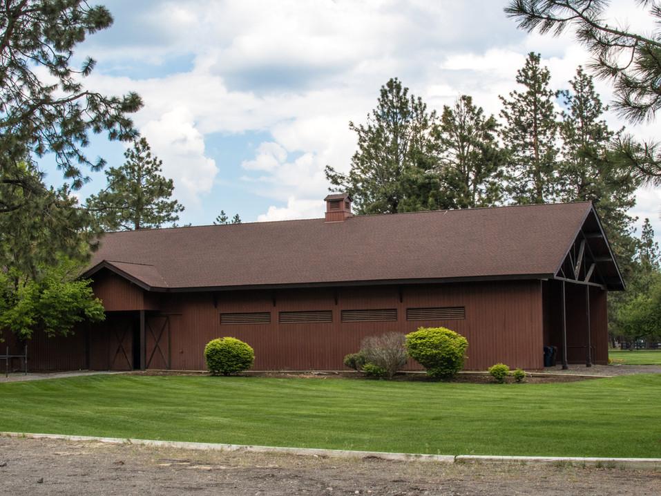 Northeast exterior of barn