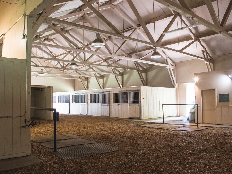 Portion of barn interior