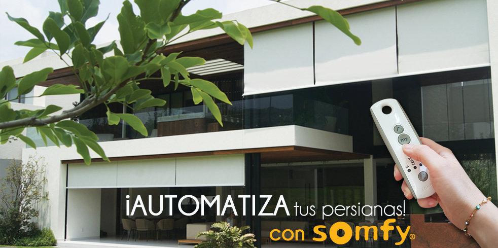 Cortinas y Persianas Motorizadas - SOMFY