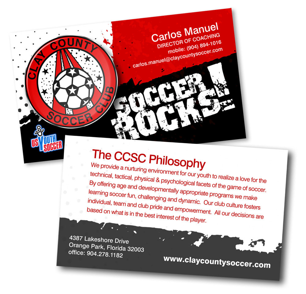 Clay County Soccer Business Cards