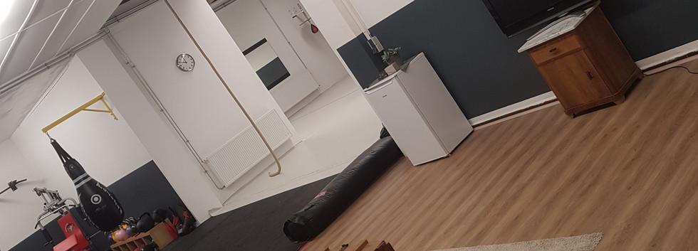 Blick von Couch in Halle
