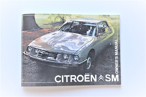 Citroen SM Owner's Manual