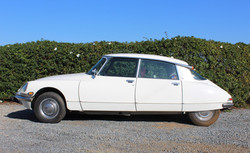 1972 White Citroen DS21 - Left Side