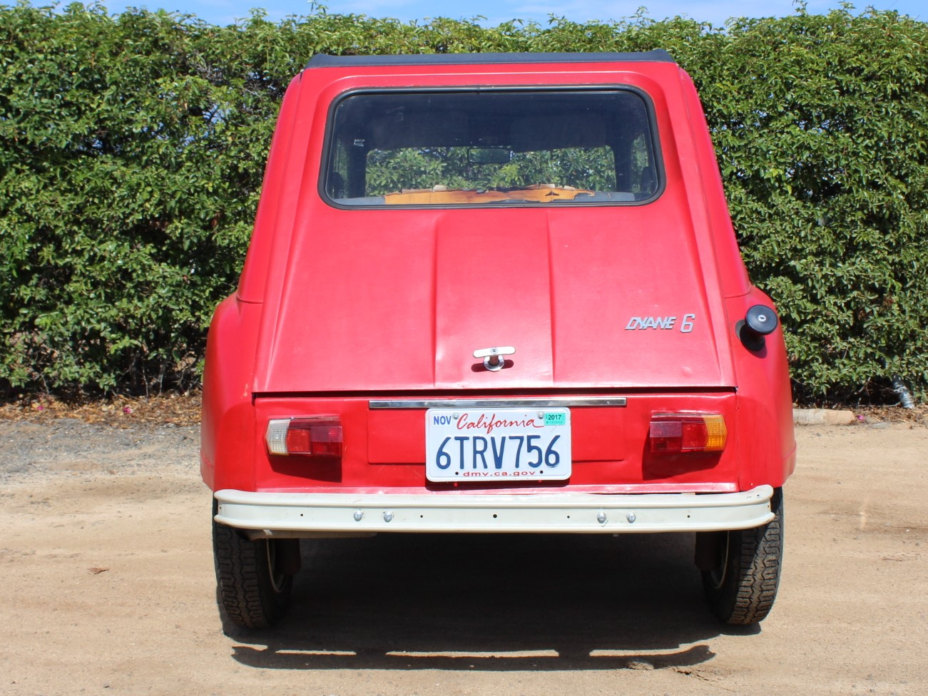 1969_Red_Citroen_Dyane_Back