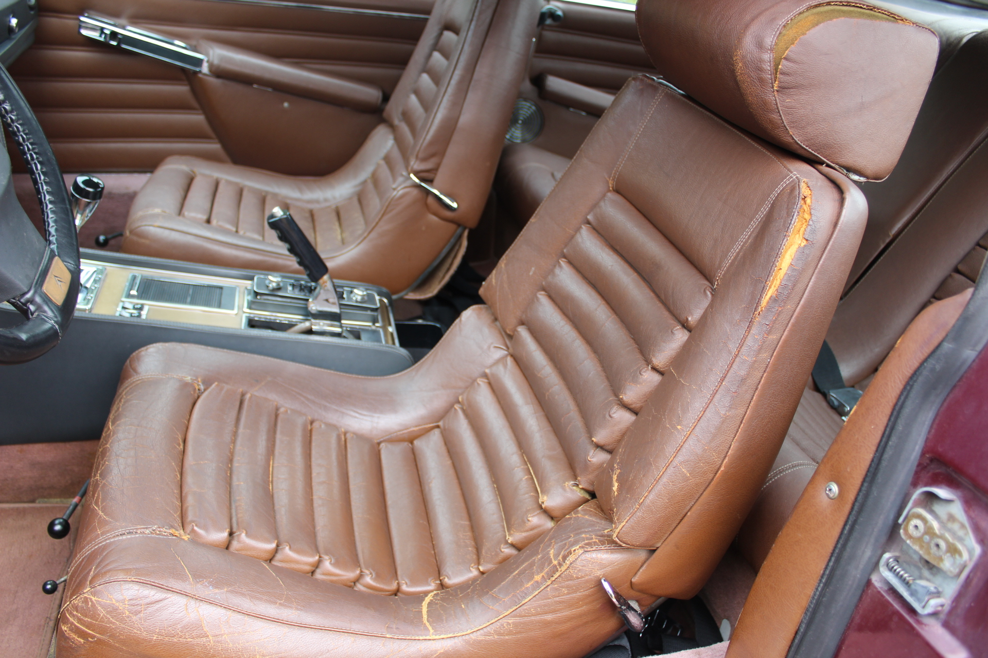 1972 Red Citroen SM - Front Seats