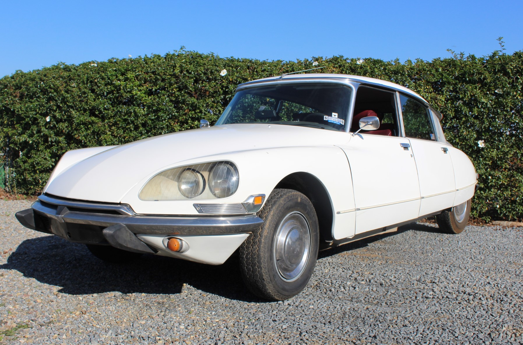 1972 White Citroen DS21 - Three Quarter.