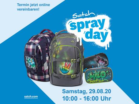 Satch Spray Day - Samstag, 29.08.20 10 - 16 Uhr