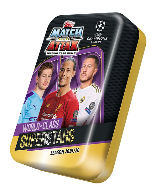 2019/2020 Topps UEFA Champions League Match Attax Soccer Midi Tins
