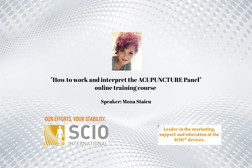 How to work and interpret the ACUPUNCTURE Panel Webinar