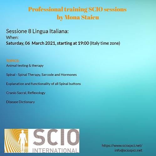 Sessione 8 Lingua Italiana: Professional training SCIO sessions
