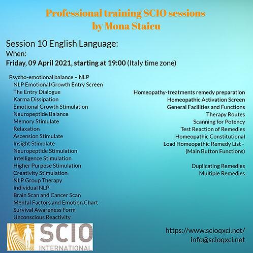 Tenth Session English Language: Professional training SCIO sessions