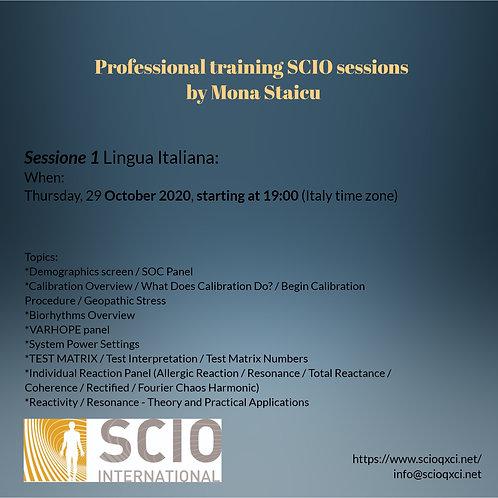 Sessione 1 Lingua Italiana: Professional training SCIO sessions
