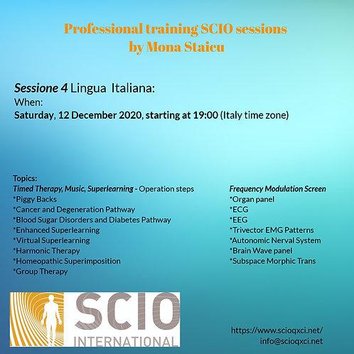 Sessione 4 Lingua Italiana: Professional training SCIO sessions