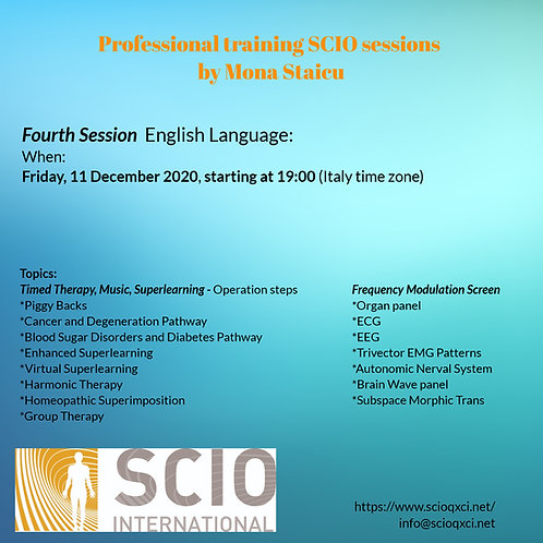 Fourth Session English Language: Professional training SCIO sessions.