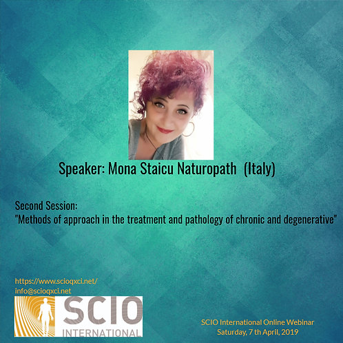 2.Methods of approach in the treatment and pathology of chronic and degenerative