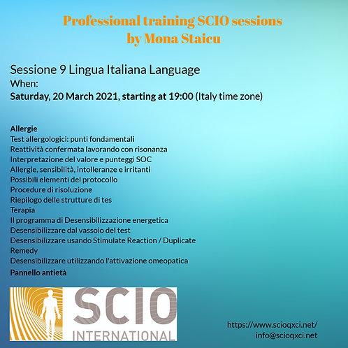 Sessione 9 Lingua Italiana: Professional training SCIO sessions